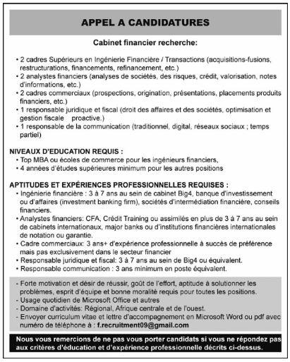 Premi re plateforme d 39 offres d 39 emploi en - Cabinet de recrutement communication ...