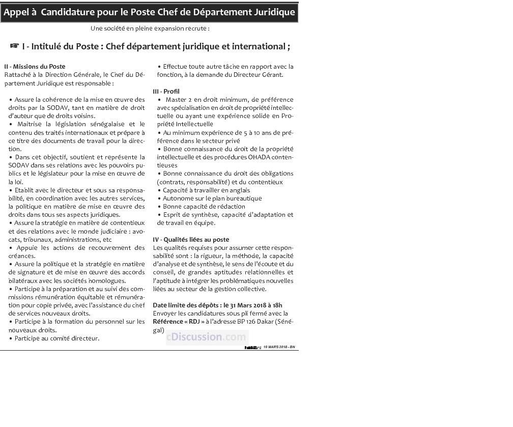 Premi re plateforme d 39 offres d 39 emploi en for Offre d emploi chef de cuisine international