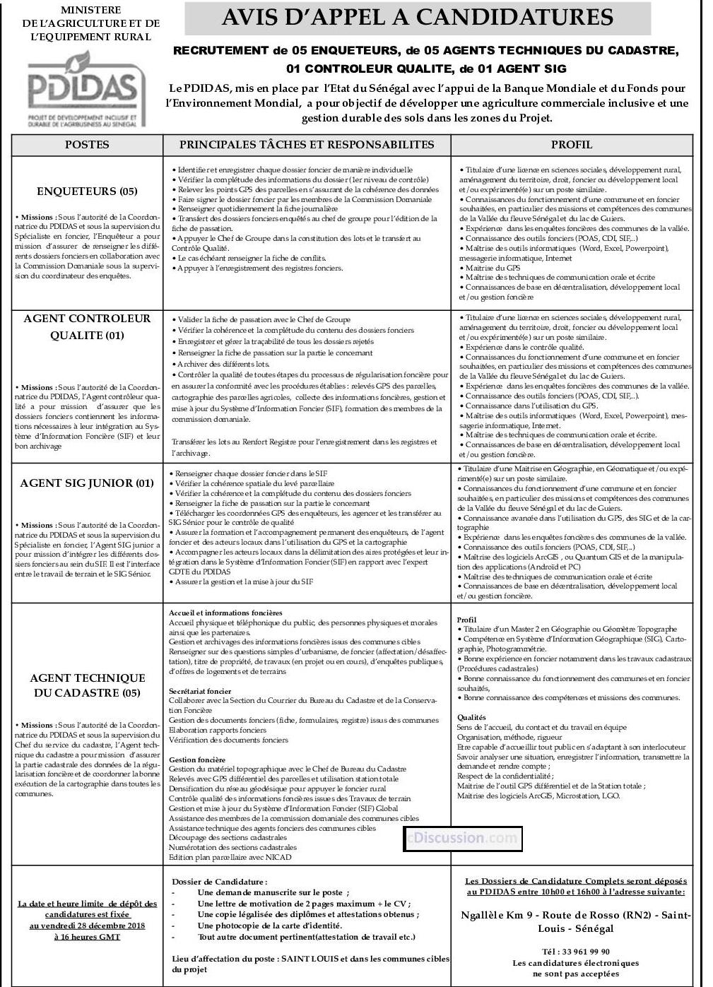 Pdidas Recrute 01 Controleur Qualite Recrutement Offre D